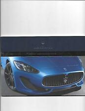 ORIGINAL MASERATI FULL RANGE CAR SALES BROCHURE FOR UK MARKET JULY 2012. ENGLISH
