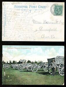 810 - PETAWAWA CAMP Postcard 1911 Canadian Militia Field Post Postmark