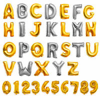 "Fashion 16"" Gold/Silver Birthday Wedding Party Decor Foil Letter Number Balloons"