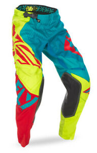 FLY RACING EVOLUTION 2.0 MX PANTS DARK TEAL/HI-VIS