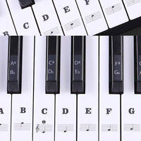 Music Keyboard Piano Laminated Stickers For 88/61/54/49 Key