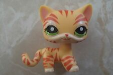 Littlest Pet Shop RARE Standing Cat Kitten Kitty #1451 Tiger Striped LPS!