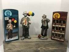 """emmett kelly jr flambro collection """"selling Balloons """" """"Toothache�"""