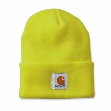 Carhartt Beanie Yellow A18 Hat Cap Lime Hi Viz Bight Green New Carhart Watch