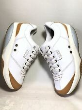 MBT WOMENS TEMBEA WALKING PHYSIOLOGICAL LEATHER SHOES WHITE BROWN SZ 9 EXCELLENT