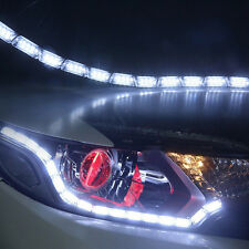 2X LED White DRL Strip Light Amber Turn Signal Switchback Headlight Retrofit