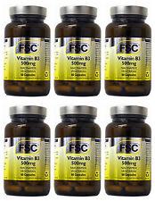 6 Frascos FSC 500mg Niacinamida Vitamina B3 360 Cápsulas para