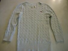 Womens L Hollister Round Neck Heather Sweater Rabbit Hair/Cotton/Nylon 3/4 Sleev