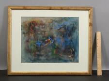 1938 Original RALPH ROSENBORG American Abstract Mixed Media Painting, NR