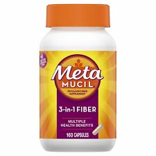 Metamucil 100% Natural Psyllium Fiber Capsules, 160 Count Bottle