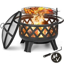 30''Pozo Pozos De Fuego Steel Fire Pit Outdoor Wood Burning Cooking Grate 2