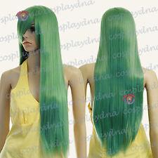 33 inch Ultra Series Hi Temp Jade Green Long Straight Cosplay DNA Wigs 740J6