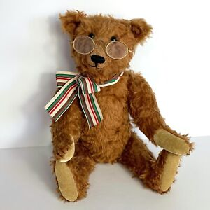 RARE Mohair Jointed Teddy Bear Carrousel By Michaud The Old Man W Spectacles