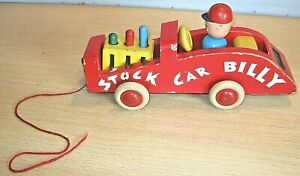 BRIO Vintage 'STOCK CAR BILLY' Wooden Pull-Along Toy