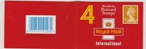 GK5 4 x 35p Worldwide Postcard, CYL W1 Good Perfs