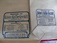 Rarität Blieskastel Papiertüten Tüten aus Papier Kaisers Kaffee Andr. Winkler