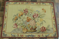 """2'5""""X3'5"""" Finest French Aubusson weave Tapestry Needlepoint Hand Knotted wool"""