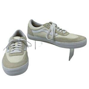 Vans Skate Shoes Men's Size 13 Beige/White Leather Sneakers *Missing Inner Soles