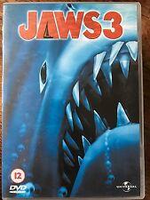 DENNIS QUAID Lea Thompson JAWS 3 ~ 1983 KILLER Tiburón Secuela GB DVD