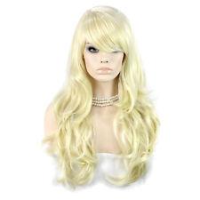 Wiwigs Beautiful Pale Blonde Long Layered Way Skin Top Ladies Wig