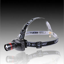 NEW Q5 500 Lumen LED 3-Mode BU Zoomable Headlamp Head torch Light Lamp AU