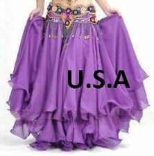 Belly Dance Costume Skirt Tribal Salsa Latin Skirt USA  (FREE GIFT)