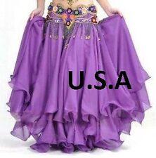 Belly Dance Costume Skirt Tribal Salsa Latin Skirt USA  (FREE GIFT)