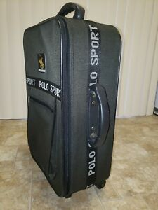 Polo Sports Rolling Suitcase Carryon Luggage Vintage Green Bag Classy
