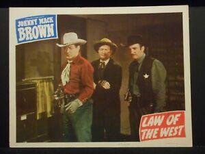 Johnny Mack Brown Law of the West 1949 Lobby Card VF Western Max Terhune