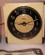 Vintage WARREN TELECHRON 7F71 white electric alarm clock Art Deco untested USA