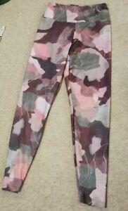 Beautiful Ladies Oysho Multicoloured Camouflage Patterned Yoga Leggings Size...