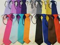 Boys Satin Elastic Neck Tie for Wedding Prom christening Children  Kids Ties