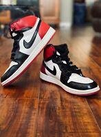 "Mens Nike Air Jordan 1 Retro High OG ""BLACK TOE"" 2013 555088-184 Size 8.5"