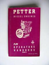 PETTER PJW - Diesel Engine Handbook - c1970 - #327158 - Issue 6