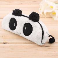 Panda Plush Pencil Case Pen Pocket Cosmetic Makeup Zipper Bag Pouch Gift Soft UF