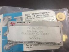 Supelco SWLK,PLUG,BR,1/4,P/6 brand new from stock(p/n:22009)
