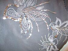 Pure Silk Miss Selfridge dark silver bolero silver sequin design size 8
