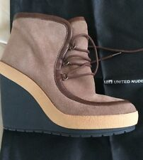 Women's United Nude Urban Suede Fossil & Brown Boots Size 6 RRP £139