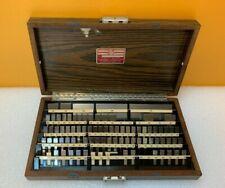 Starrett Webber Rs86a1 79 Piece Steel Gage Block Set Case