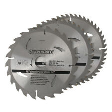 3 x 200mm (8″) TCT Circular Saw Blades 30mm Bore 16 18 & 25 mm Reduction Rings