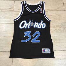 "Shaquille ""Shaq"" O'Neal Orlando Magic #32 NBA Champion Jersey Size 36 Sm Vintage"