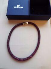 Swarovski Stardust Double Bracelet Size Medium 40cm Purple