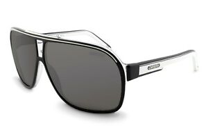 Carrera Grand Prix 2 HD Polarized Unisex Sports Sunglasses Black & White Aviator