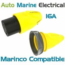 Marinco Compatible International Marine Shore Power 16A Connector Plug & Cover
