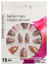 SASSY+CHIC 12pc Fashion Nails FUN & EASY Glue On *YOU CHOOSE*Stiletto Shape 3/10