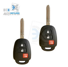 2 Replacement Key Remote Headed Combo Keyless Entry Ignition Fob For HYQ12BDM G