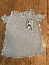 "Girls Justice Cold shoulder sequin ""Turn it Up"" shirt size 14"