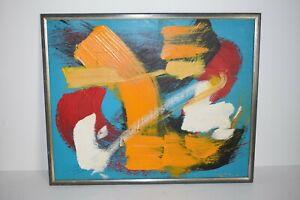 Grand tableau abstrait 1970 dlq Soulages