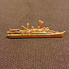 Military Vintage U.S. Navy Battleship Pin W/ Roll Back Clasp