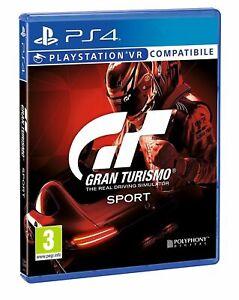 GT SPORT PS4 VIDEOGIOCO GRAN TURISMO 7 SPORT PS4 ITALIANO VR PLAY STATION 4 ITA